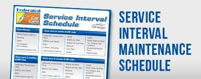 Service Interval Maintenance Schedule